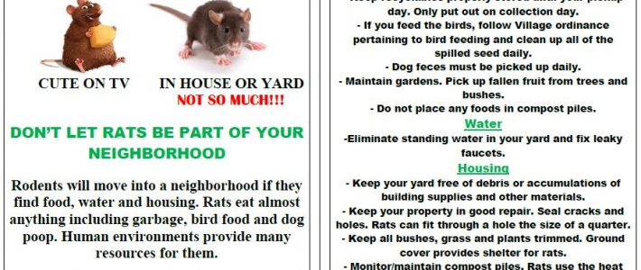 Rodent Notice